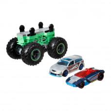 Набор машинок Hot Wheels Monster trucks Создатель монстров голубая и серая 1:64 (GWW13/GWW15)