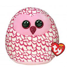 Подушка TY Squish-a-boos Розовая сова Пинки 20 см (39300)