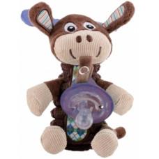 Мягкая игрушка Nuby Олень, с держателем для пустышки (5853moose)