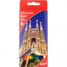 Набор цветных карандашей Kite Города, 12 шт. (K17-051-2)