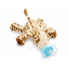 Мягкая игрушка с пустышкой Philips Avent Ultra Soft Жираф, 0-6 мес. (SCF348/11)