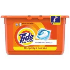 Капсулы для стирки Tide Альпийская свежесть, для белых и цветных тканей, 12 шт.