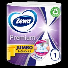Трехслойные кухонные полотенца Zewa Premium Jumbo, белый, 1 рулон