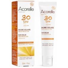 Солнцезащитный бальзам для лица Acorelle SPF30, органический, 30 мл