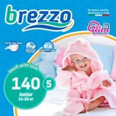 Набор подгузников Brezzo 5 (11-22 кг), 140 шт. (5 уп. по 28 шт.)