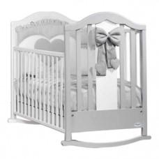 Детская кроватка Baby Italia Fiocco White-Dove Grey, белый с серым (FIOCCO WHITE/DOVE GREY)