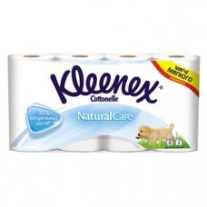 Трехслойная туалетная бумага Kleenex Naturalcare, 8 рулонов
