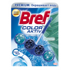 Туалетный блок для унитаза Bref Color aktiv Эвкалипт, 50 г