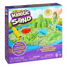 Кинетический песок Kinetic Sand Замок из песка, зеленый 71402G ТМ: Kinetic Sand