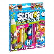 Набор ароматных маркеров Scentos Плавная линия, 8 шт. 40605 ТМ: Scentos