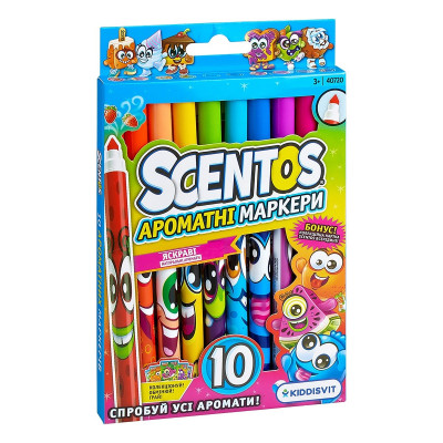 Набор ароматных маркеров Scentos Тонкая Линия, 10 шт. 40720 ТМ: Scentos