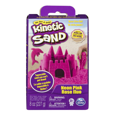 Кинетический песок Kinetic Sand Neon Розовый 227 г 71423Pn ТМ: Kinetic Sand