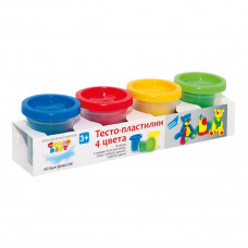 Тесто-пластилин 4 цвета GENIO KIDS TA1008V ТМ: Genio Kids