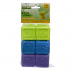 Набор кубиков BABY TEAM, 6 шт (в ассорт) 8852 ТМ: BABY TEAM