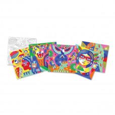 Художественный комплект для рисования цветным песком Djeco Тотемные животные DJ08633  ТМ: Djeco