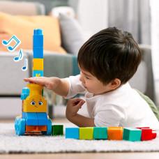 Конструктор Mega Bloks Музыкальный паровозик FWK22 ТМ: Mega Bloks
