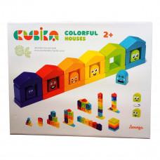 Конструктор Cubica Цветные домики 14866 ТМ: Cubika
