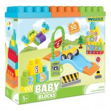 Конструктор Wader Baby Blocks 50 эл 41450 ТМ: Wader