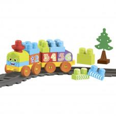 Конструктор Wader Baby Blocks Train Set 36 эл 41460 ТМ: Wader