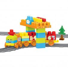 Конструктор Wader Baby Blocks Train Set 58 эл 41470 ТМ: Wader