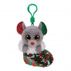 Мягкая игрушка-брелок TY Inc Flippable Мышка Chipper 12 см 35314 ТМ: TY Inc