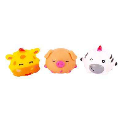 Набор игрушек для ванной Baby Team Забавные зверушки 3 шт (в ассорт) 9022 ТМ: BABY TEAM