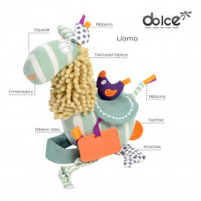 Развивающая мягкая игрушка Dolce Лама 96005 ТМ: Dolce
