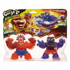 Набор игрушек-тянучек GooJitZu Dino Power Heroes Блейзагон и Редбек 12 см 121744 ТМ: GooJitZu