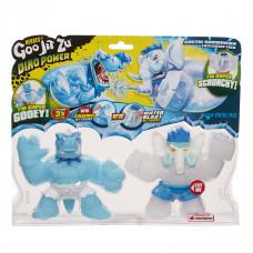 Набор игрушек-тянучек GooJitZu Dino Power Heroes Тайро и Гигастук 12 см 121745 ТМ: GooJitZu