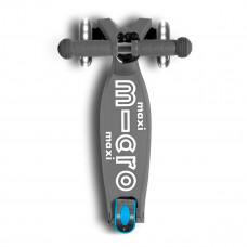 Самокат складной Micro Maxi Deluxe Foldable LED Серый  MMD094 ТМ: Micro