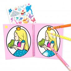 Раскраска с блестками Princess Mimi Glitter Book 48982 ТМ: Princess Mimi