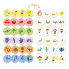 Пазл-игра Mon Разноцветные развлечения 200105 ТМ: Mon
