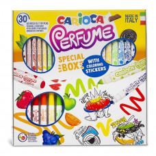 Набор фломастеров Carioca Perfume&Stickers 30 цветов и наклейки 43082 ТМ: Carioca