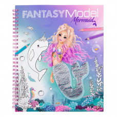 Альбом для раскрашивания с пайетками Fantasy Model Русалочка 411153 ТМ: Fantasy Model