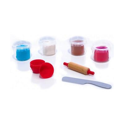 Набор незасыхающей массы для лепки SES Фруктовые кексы, 4 цвета 00479S ТМ: SES