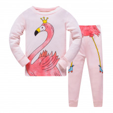 Уценка (дефекты)! Пижама Фламинго в короне