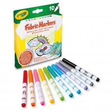 Набор маркеров Crayola Fabric Fine Line для рисования по ткани, 10 цветов 58-8633 ТМ: Crayola
