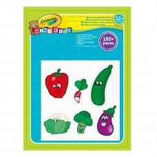Набор стикеров Crayola Овощи и фрукты 180 штук 81-2010 ТМ: Crayola