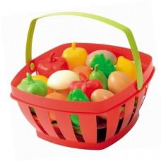 Набор Ecoiffier Корзина с продуктами, 15 предметов 966 ТМ: Ecoiffier