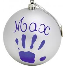 Рождественский шар Baby Art, 11 см, серебристый (34120155)