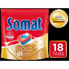 Таблетки для посудомоечных машин Somat Gold, 18 шт.