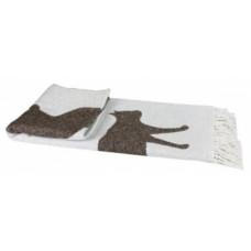 Плед LightHouse Meow, 200х140 см, бежевый с белым (547088)