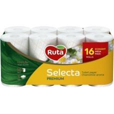 Трехслойная туалетная бумага Ruta Selecta с ароматом ромашки, 16 рулонов