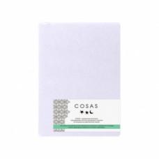 Простыня на резинке Cosas, махра, 200х140 см, белый