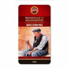 Набор акварельных карандашей в металлической коробке Koh-i-Noor Mondeluz, 12 шт. (3722)