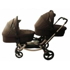 Универсальная коляска 2 в 1 для двойни ABC Design Zoom Cuba, коричневый (71311/616К1)