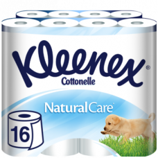Набор трехслойной туалетной бумаги Kleenex Naturalcare, 16 рулонов (2 уп. по 8 рулонов)