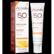 Спрей солнцезащитный органический Acorelle SPF 50, 100 мл