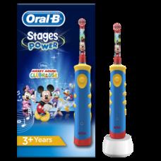 Детская электрическая зубная щетка Oral-B Stages с Микки Маусом, мягкая