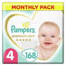 Подгузники Pampers Premium Care, размер 4, 9-14 кг, 168 шт